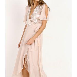 CLEOBELLA Radley Wrap Maxi Dress Blush Pink